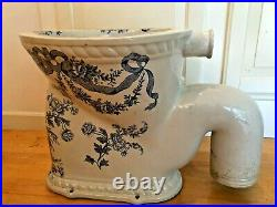 1800s Victorian Porcelain Water Closet WC Toilet Made by Waterfall, England