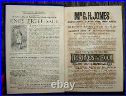 1878 Antique Cookbook Victorian Household Home Remedies Arts Crafts Games Family