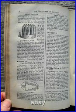 1880s ANTIQUE COOKBOOK Mrs. Beeton's Victorian RECIPES Vintage COOKERY Old RARE