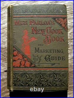 1888 VICTORIAN COOKBOOK Cookery Antique Recipes Handwritten Pastry Confectionery