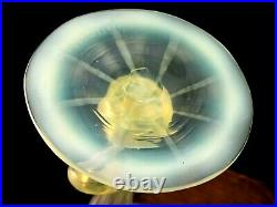 1893 Antique John Walsh Walsh Ruby Cut to Uranium & Opalescent Art Glass Vase