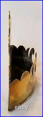 19th Century Victorian English Brass Hanging Wall Box Circa 1850 9-1/4 Long