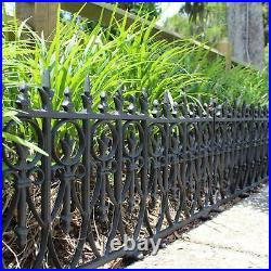 3 pcs Victorian Garden Fence Heavy Antique Style Old English Lawn Edging