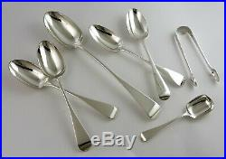 55-piece Boxed SILVER OLD ENGLISH CANTEEN of CUTLERY, London 1877 Chawner & Co