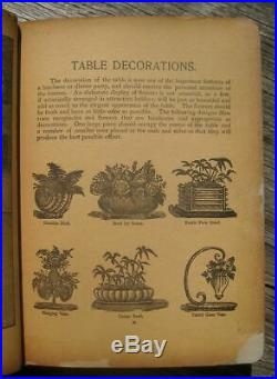 ANTIQUE COOKBOOK Vintage Cookery 1901 Pastry Pies Cakes Victorian Women Feminist