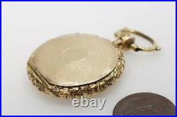 ANTIQUE EARLY VICTORIAN ENGLISH GOLD POCKET WATCH STYLE LOCKET c1840