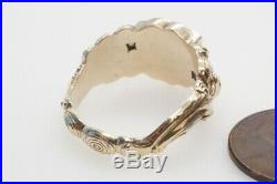 ANTIQUE ENGLISH EARLY VICTORIAN 15K GOLD BLOODSTONE SEAL / SIGNET RING c1840