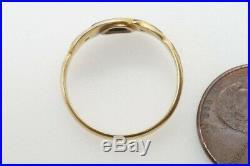 ANTIQUE LATE VICTORIAN ENGLISH 15K GOLD BLACK ENAMEL & PEARL RING c1890