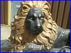 ANTIQUE MAJESTIC 19th century Victorian English Cast-Iron Lion Doorstop 11.5KG