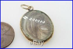 ANTIQUE MID VICTORIAN ENGLISH 15K GOLD BLUE & WHITE ENAMEL MOURNING LOCKET c1860
