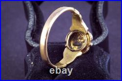 ANTIQUE VICTORIAN ENGLISH 15K GOLD RUBY PEARL PANSY RING c1870s