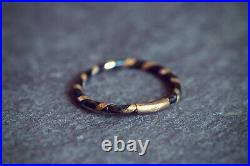ANTIQUE VICTORIAN ENGLISH 9K GOLD ELEPHANT BAND RING GRAND TOUR c1870
