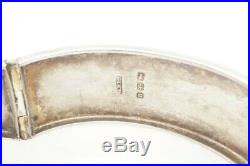 ANTIQUE VICTORIAN ENGLISH STERLING SILVER BANGLE / BRACELET c1887