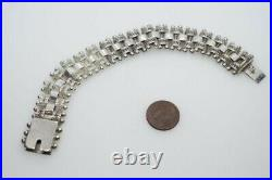 ANTIQUE VICTORIAN ENGLISH STERLING SILVER BOOK CHAIN STYLE BRACELET c1880