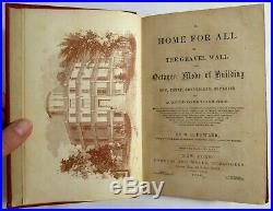 Antique 1854 A HOME FOR ALL The Octagon House VICTORIAN ARCHITECTURE O. S. Fowler