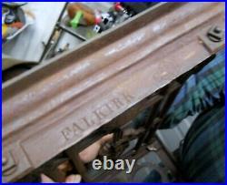 Antique 19th C. FALKIRK FOUNDRY Umbrella Cane Stand Cast Iron Registry Marks