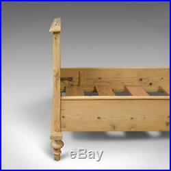 Antique Bed Frame, English, Victorian, Pine, Bedstead, Late 19th Century, C. 1900