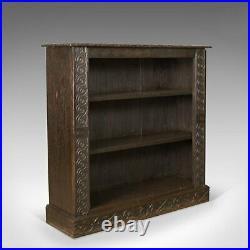 Antique Bookshelf, English Oak, Victorian Bookcase Jacobean Overtones Circa 1880