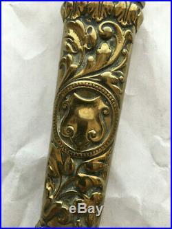 Antique Brass Scissors withSheath/Cover, Victorian, c. 1890