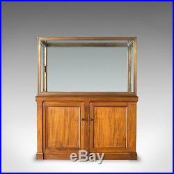 Antique Display Cabinet, English, Walnut, Bronze, Showcase, Museum, Circa 1900