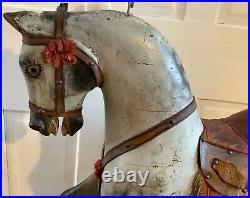 Antique English Ayres Victorian Rocking Horse 38 Original Paint