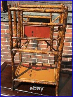 Antique English Bamboo Victorian Book / Magazine Stand C. 1890