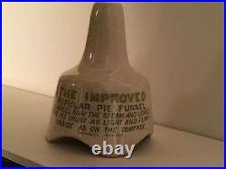 Antique English Ironstone Stoneware Funnel Pie Vent Chimney Grimwades Potteries