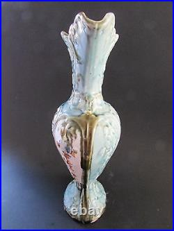 Antique English Majolica Ewer Pitcher 12.5 Numbered