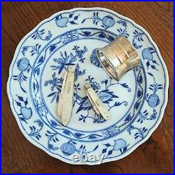 Antique English Sheffield Gold Sterling Silver & MOP Folding Pocket Knife 1901