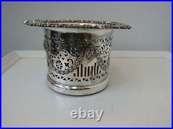 Antique English Sheffield Silver Wine Bottle holder coaster