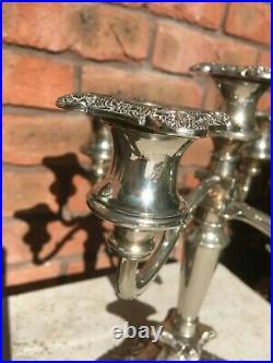 Antique English Silver Plated Candelabra, Victorian Centrepiece c1880