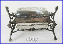 Antique English Silverplate Aesthetic Hydraulic Bun Warmer Toaster Biscuit Box