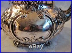 Antique English Sterling Silver Teapot Martin Hall Co. Sheffield 1904