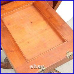 Antique English Victorian Circassian Walnut Oval Tilt-Top Breakfast / Loo Table