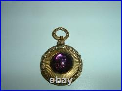 Antique English Victorian Gold Filled Amethyst Pendant