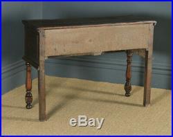 Antique English Victorian Jacobean Style Oak Geometric Dresser Base Sideboard
