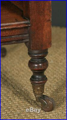 Antique English Victorian Mahogany Dumbwaiter Buffet Server Sideboard Wagon