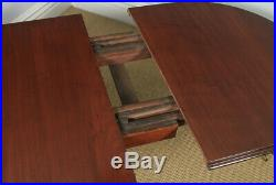 Antique English Victorian Mahogany Extending Eight Seat Dining Table 7ft 8 Long