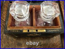 Antique English Victorian Perfume/cologne Box 2 Bottle Set Rimmel London