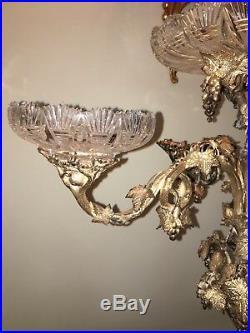 Antique English Victorian Silverplate Centerpiece 26 Tall Stunning