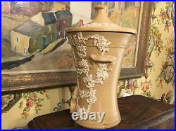 Antique English Victorian Small Water Filter Pottery Marked London 19th Century