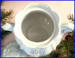 Antique English White Ironstone Covered Sugar Bowl, Paneled Grape, by Jacob Furn