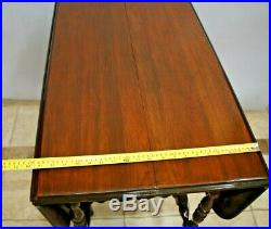 Antique Gate Leg Table Drop side Leaf Very rare working Hidden Center Leaf