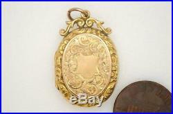 Antique Late Victorian English 9k Gold Back & Front Photo Memento Locket