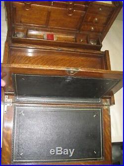 Antique Oak English Presentation Writing Slope/Desk Nov. 1885