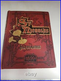 Antique ST. NICHOLAS Illustrated Victorian children's Decorative Book lot of 12