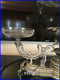 Antique Sheffield English Silverplate Centerpiece Epergne Vase