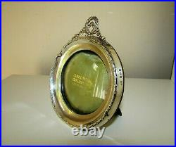 Antique Sterling Silver English Birmingham 1900 Picture Frame Ribbon