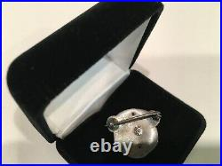 Antique Sterling Victorian Edwardian English Bulldog Unger Brothers Brooch Pin