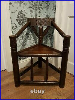 Antique Turners Chair, Victorian, English Oak, Circa Early 1900s